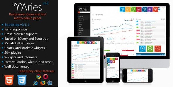 Aries - Metro Style Admin Template - Admin Templates Site Templates