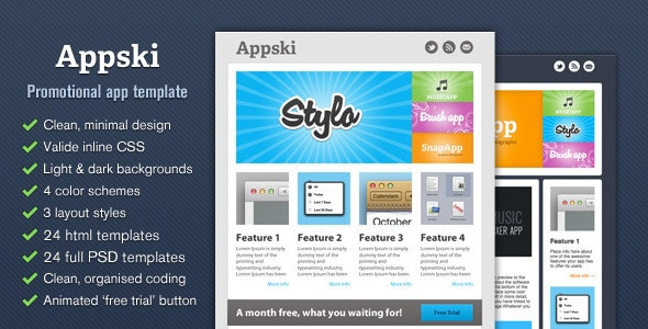 Appski - App Promotional Email Template by cazoobi | ThemeForest