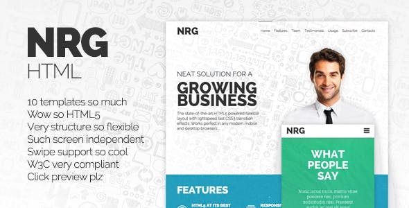 NRG - Responsive HTML Template