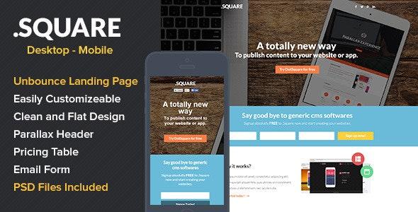 DotSquare App Landing Page - Unbounce Landing Pages Marketing