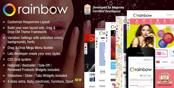 Responsive Magento Theme - Gala RainBow