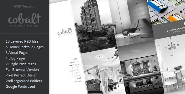 Cobalt - Creative Studio PSD Template - Creative Photoshop