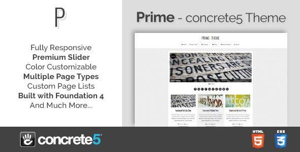 Prime - Responsive Multipurpose concrete5 Theme