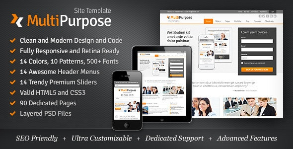 MultiPurpose - Responsive HTML5 Website Template - Corporate Site Templates
