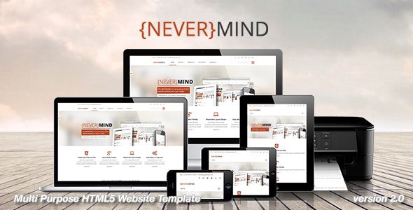 Nevermind All In One Html5 Website Template By