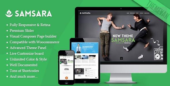 Samsara - Creative Multi-pages and One Page WordPress Theme