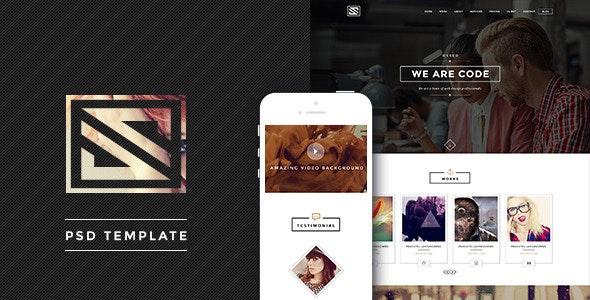 Vastudio - Creative One Page PSD Template - Creative Photoshop