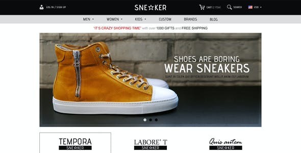 Opencart Fashion Shoes Store - Sneaker
