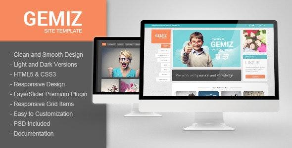 Gemiz - Portfolio HTML Template - Portfolio Creative