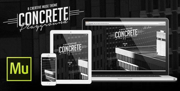 Concrete Playground 1 Page Muse Theme - Muse Templates