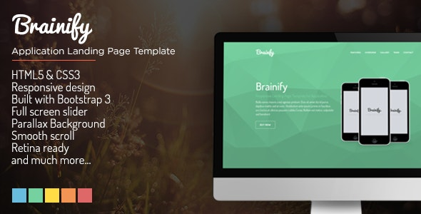 Brainify - Application Landing Page Template - Landing Pages Marketing