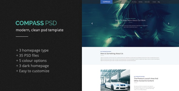 Compass PSD Template - Creative Photoshop