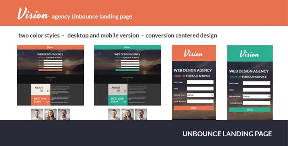Vision - Agency Unbounce Landing Page