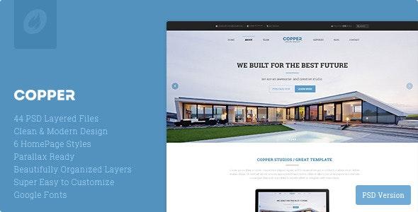 Copper - Multipurpose Creative PSD Template - Corporate Photoshop