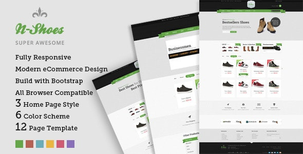 N-Shoes – Premium Responsive HTML5 Store Template - Shopping Retail