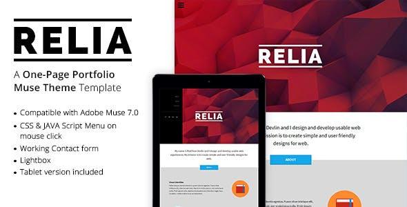 Relia - One Page Portfolio Muse Theme