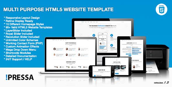 Pressa - Multi Purpose HTML5 Website Template - Business Corporate