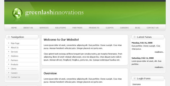 Greenlash Innovation - Corporate Site Templates
