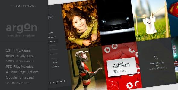 Argon - Creative HTML5 template