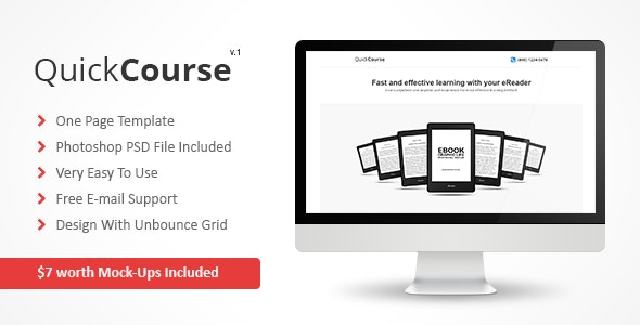 QuickCourse - Unbounce Template - Unbounce Landing Pages Marketing