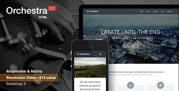 Orchestra - Responsive HTML template - Site Templates