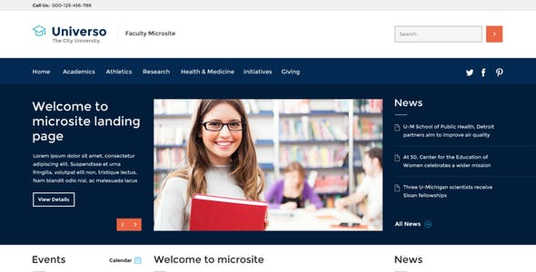 Universo - Educational, Course and University PSD