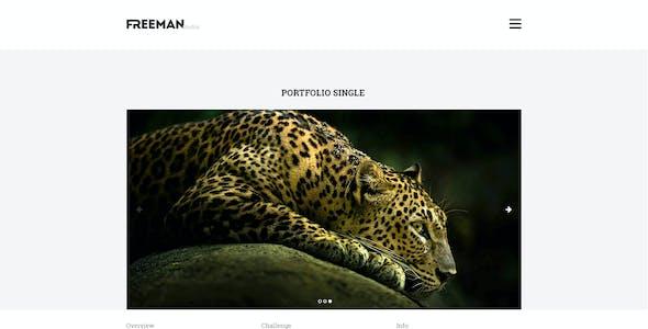 Freeman Studios - Creative One Page PSD Template