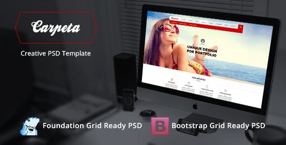 Carpeta Portfolio Bootstrap PSD Template