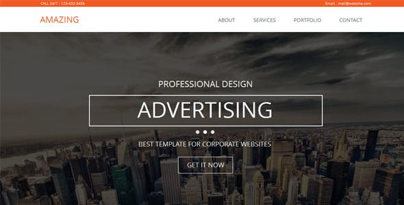 Amazing - One Page Parallax Muse Template