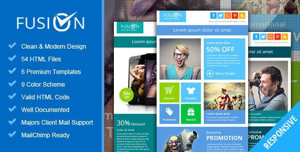 Fusion - Metro Email Newsletter Template - Email Templates Marketing