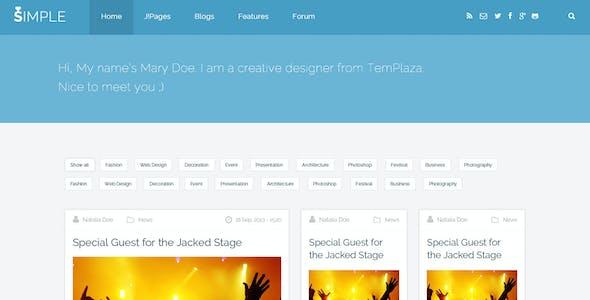 Simple Love - Multipurpose Joomla Template