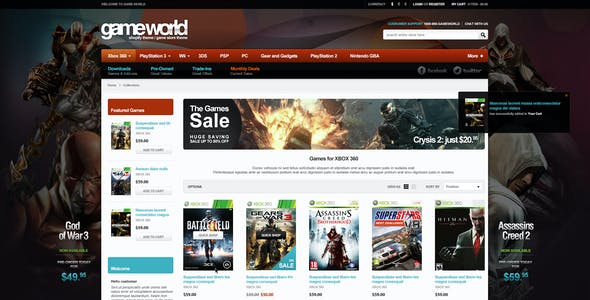Game Store Shopify Theme - GameWorld