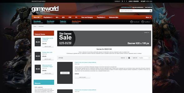Responsive HTML Theme - GameWorld