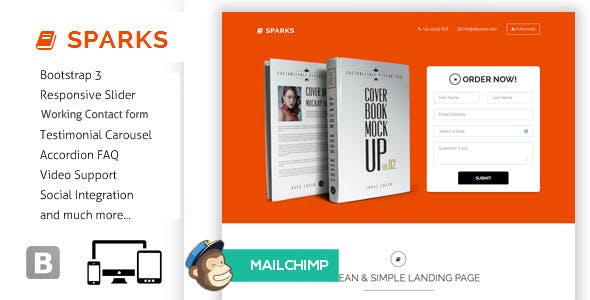 Sparks - Responsive Bootstrap Landing Page
