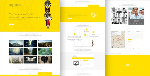 Angry pen– One Page Multi-Purpose Muse Template - Muse Templates