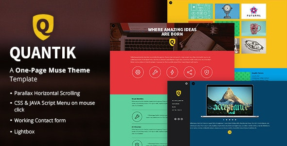Quantik - One Page Muse Theme - Creative Muse Templates