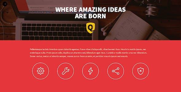 Quantik - One Page Muse Theme