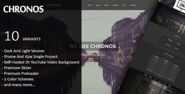 Chronos - Parallax One Page HTML Template - Creative Site Templates