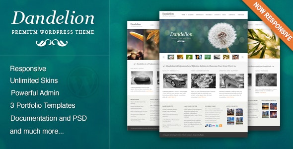 Dandelion - Powerful Elegant WordPress Theme - Portfolio Creative