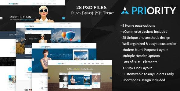 Priority | MultiPurpose PSD - Corporate Photoshop