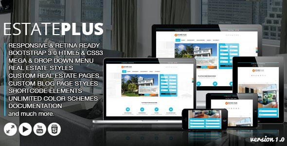 Estate Plus HTML5 Website Template - Travel Retail