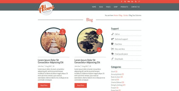 All Around - Universal WordPress Shop Template