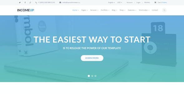 IncomeUp – Multi-purpose Business PSD Template