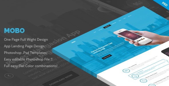 Mobo - One Page App Landing Page - Marketing Corporate