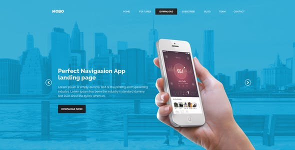 Mobo - One Page App Landing Page