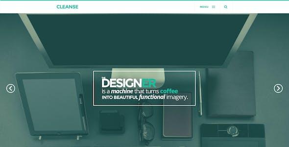Cleanse - Minimal Style Portfolio PSD