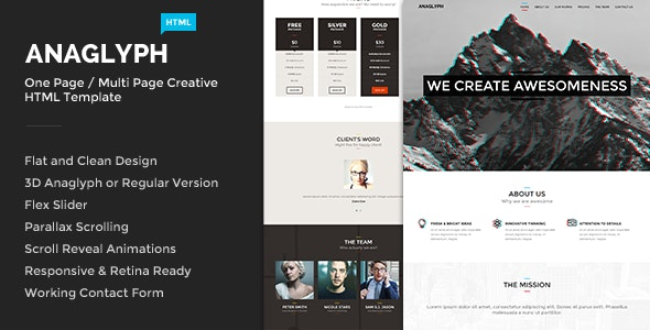Anaglyph - One & Multi Page Creative Template - Creative Site Templates