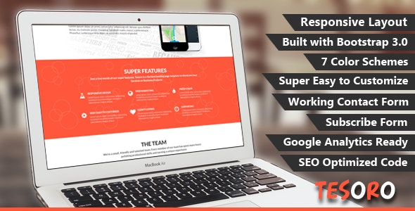 Tesoro - Super Simple Landing Page - Landing Pages Marketing