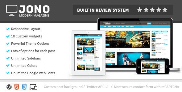 Jono Responsive WordPress Magazine Theme - Blog / Magazine WordPress