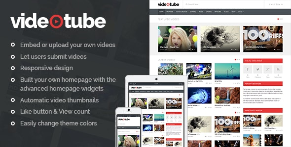 VideoTube - A Responsive Video WordPress Theme by phpface